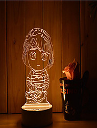 cheap -1 Set Of 3D Mood Night Light Hand Feeling Dimmable USB Powered Gift Lamp Girl