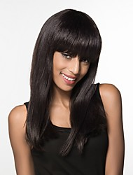 cheap -Human Hair Capless Wigs Human Hair Straight Long Machine Made Wig Women's