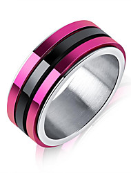 cheap -Men's Geometric Band Ring - Korean, Fashion 7 / 8 / 9 Purple For Daily / Formal