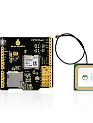 keyestudio gps shield avec antenne fente sd pour arduino uno r3