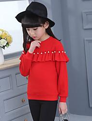 cheap -Girls' Solid Hoodie & Sweatshirt,Cotton Winter Long Sleeve Cute Black Red Blushing Pink