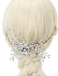 Недорогие -имитация жемчуга горный хрусталь волосы гребни 1шт головной убор элегантный стиль