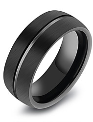 cheap -Men's Geometric Band Ring - Korean, Fashion 8 / 9 / 10 Black For Daily / Formal