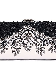 cheap -Women Bags PU Evening Bag Flower(s) Pearl Detailing for Wedding Event/Party All Season Black