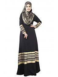 cheap -Women's Abaya Dress - Color Block Maxi