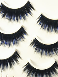 cheap -Eyelashes lash Full Strip Lashes Eyes Thick Colorful Volumized Handmade Fiber Black Band 0.07mm 13mm