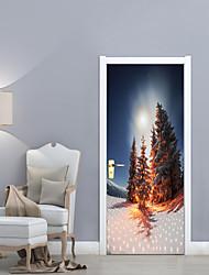 economico -Botanica Natale Paesaggio Adesivi murali Custodia protettiva Adesivi aereo da parete Adesivi 3D da parete Adesivi decorativi da parete