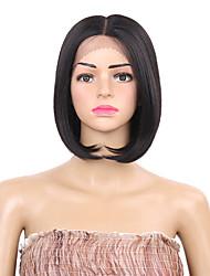 Femme Perruque Lace Front Synthétique Court Noir Au Milieu Coupe Carré Perruque Naturelle Perruque Déguisement