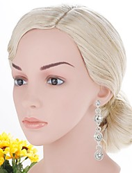 cheap -Women's Drop Cubic Zirconia / Rhinestone Silver Drop Earrings - Classic / Elegant Silver Earrings For Wedding / Evening Party