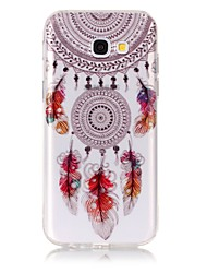 cheap -Case For Samsung Galaxy A5(2017) / A3(2017) Ultra-thin / Transparent / Embossed Back Cover Dream Catcher Soft TPU for A3(2017) / A5(2017)