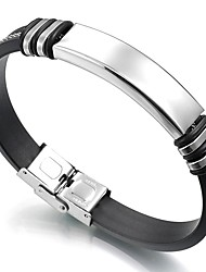 cheap -Men's Link Bracelet , Casual Leather Stainless , Button Jewelry For Daily