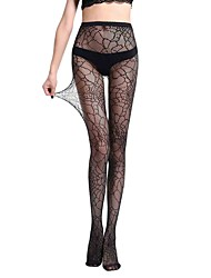 cheap -Women's Thin Pantyhose,Nylon Animal Print One-piece Suit Black