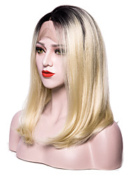 cheap -Synthetic Lace Front Wig Straight Bob Haircut With Baby Hair Ombre Hair Blonde Women's Lace Front Party Wig Natural Wigs Cosplay Wig Short