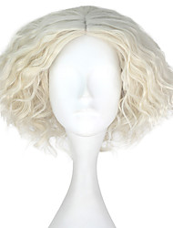 cheap -Synthetic Wig Kinky Curly Blonde Men's Capless Carnival Wig Halloween Wig Party Wig Lolita Wig Natural Wigs Cosplay Wig Short Synthetic