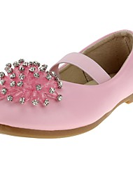 cheap -Girls' Shoes Leatherette Spring / Fall Comfort / Flower Girl Shoes Heels Rhinestone / Gore for White / Pink / Wedding