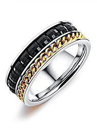 cheap -Men's Resin Geometric Band Ring - Korean, Fashion 7 / 8 / 9 Silver For Daily / Going out