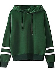 cheap -Women's Long Sleeves Cotton Hoodie - Solid, Sporty Stylish