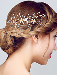 cheap -Pearl Crystal Hair Stick 1pc Headpiece