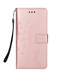 preiswerte -Hülle Für Samsung Galaxy J7 (2017) J5 (2017) Kreditkartenfächer Geldbeutel mit Halterung Flipbare Hülle Magnetisch Muster