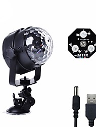 cheap -U'King LED Stage Light / Spot Light Sound-Activated Music-Activated 6 for For Home Outdoor Party Stage Wedding Club Portable