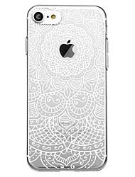 billiga -fodral Till Apple iPhone 7 / iPhone 7 Plus Mönster Skal Mandala Mjukt TPU för iPhone X / iPhone 8 Plus / iPhone 8