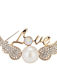 cheap -Women's Brooches - Imitation Pearl Simple, Elegant Brooch Gold For Gift / Going out