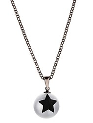 cheap -Women's Moon Ball Star Shape Simple Casual Fashion Pendant Necklace Imitation Pearl Zircon Copper Silver Plated Pendant Necklace Gift