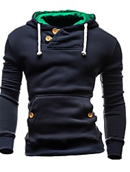 cheap -Men's Petite Daily Sports Vintage Casual Hoodie Solid Hooded Hoodies Micro-elastic Cotton Polyester Long Sleeve Winter Autumn/Fall