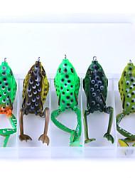 economico -5 pezzi jerkbaits morbido g / once mm pollici, esca di plastica casting richiamo di pesca d'acqua dolce pesca pesca generale