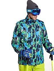 abordables -Homme Veste de Ski Chaud Ventilation Pare-vent Vestimentaire étanche Ski Multisport Sports d'hiver Après Ski Polyester