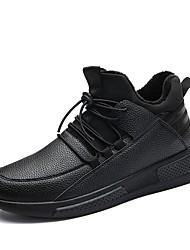 Homme Chaussures Polyuréthane Printemps Automne Confort Chaussures d'Athlétisme Marche Pour Athlétique Noir