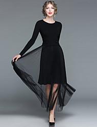 cheap -EWUS Women's Swing Dress - Solid Colored, Tassel