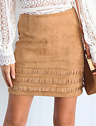 cheap -Women's Event/Party Short Length SkirtsCasual Sexy Sophisticated Bodycon Lace-up Solid Spring Summer