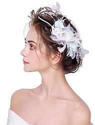 Недорогие -искусственный цветок перьев 1шт головной убор классический женский стиль