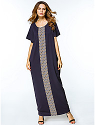 cheap -Women's Tunic Dress - Galaxy Maxi