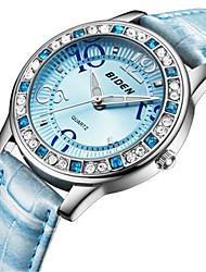 Mujer Reloj Casual Reloj de Moda Reloj de Pulsera Chino Cuarzo Reloj Casual Piel Banda Casual Elegant Blanco Azul Rojo