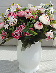 cheap -1 Branch Silk Roses Tabletop Flower Artificial Flowers