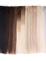 cheap -Tape In Human Hair Extensions 20 Strands/Pack 1.5g/pc Medium Brown Strawberry Blonde/Light Blonde Beige Blonde//Bleach Blonde Ash