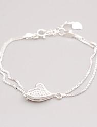 abordables -Femme Chaînes & Bracelets Zircon Cœur Elégant Zircon Forme Géométrique Forme de Ligne Bijoux Pour Rendez-vous