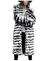 economico -Cappotto di pelliccia Taglie forti Per donna Per uscire Essenziale - Monocolore Largo / Inverno