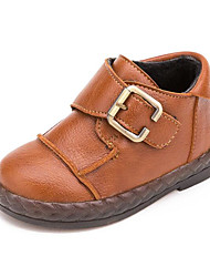Baby Shoes Leatherette Fall Winter Comfort First Walkers Boots For Casual Yellow Black