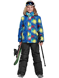 Недорогие -Phibee Мальчики Лыжная куртка Теплый Сохраняет тепло С защитой от ветра Водонепроницаемаямолния Пригодно для носки водостойкий Устойчивы