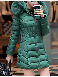 cheap -Women's Padded Coat,Casual Daily Solid-Polyester Long Sleeves