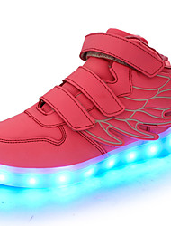 cheap -Girls' Shoes PVC Leather / Customized Materials / Leatherette Spring Comfort / Light Up Shoes Sneakers Magic Tape / LED for Blue / Pink /