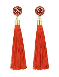 cheap -Women's Tassel Drop Earrings - Imitation Tourmaline Tassel, Fashion Blue / Pink / Navy For Daily / Date