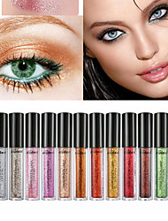 cheap -6Pcs Eye Shadow Shimmer Makeup Eyeshadow Set Diamond Pearl Powder Maquiagem