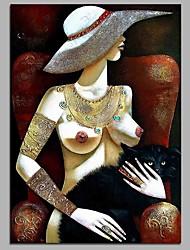 preiswerte -Modernes mädchen 100% handgemalte zeitgenössische ölgemälde moderne kunstwerk wandkunst für raumdekoration
