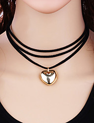 Недорогие -Жен. Сердце Мода Ожерелья-бархатки Сплав Ожерелья-бархатки , Подарок Повседневные