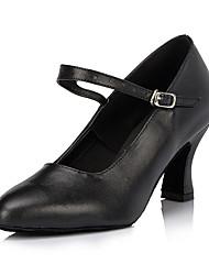 Недорогие -Для женщин Современный Кожа Кроссовки Профессиональный стиль На толстом каблуке Черный Красный