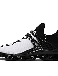 cheap -Men's Shoes Tulle Spring Summer Comfort Sneakers Walking Shoes for Casual Black Black/White Black/Red